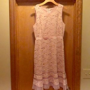 Nude Lace BCBG tea length dress